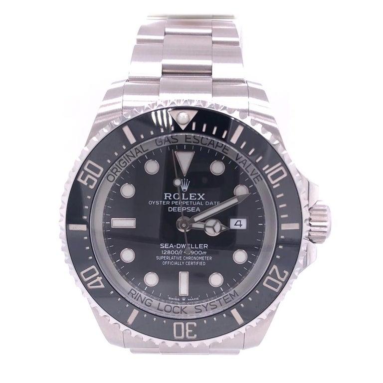 Rolex Deepsea Sea-Dweller Oyster Perpetual 44 Black Dial Steel Mens Watch 126660 2
