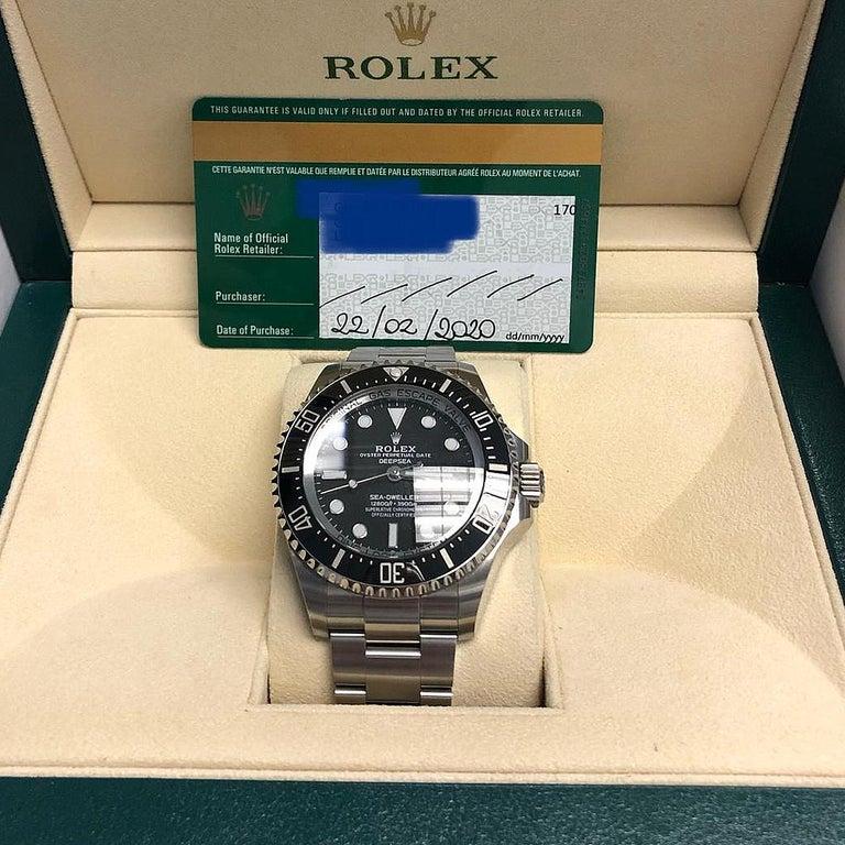 Rolex Deepsea Sea-Dweller Oyster Perpetual 44 Black Dial Steel Mens Watch 126660 4