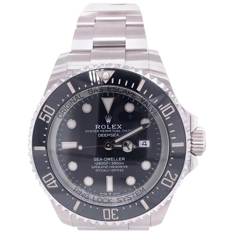 Rolex Deepsea Sea-Dweller Oyster Perpetual 44 Black Dial Steel Mens Watch 126660