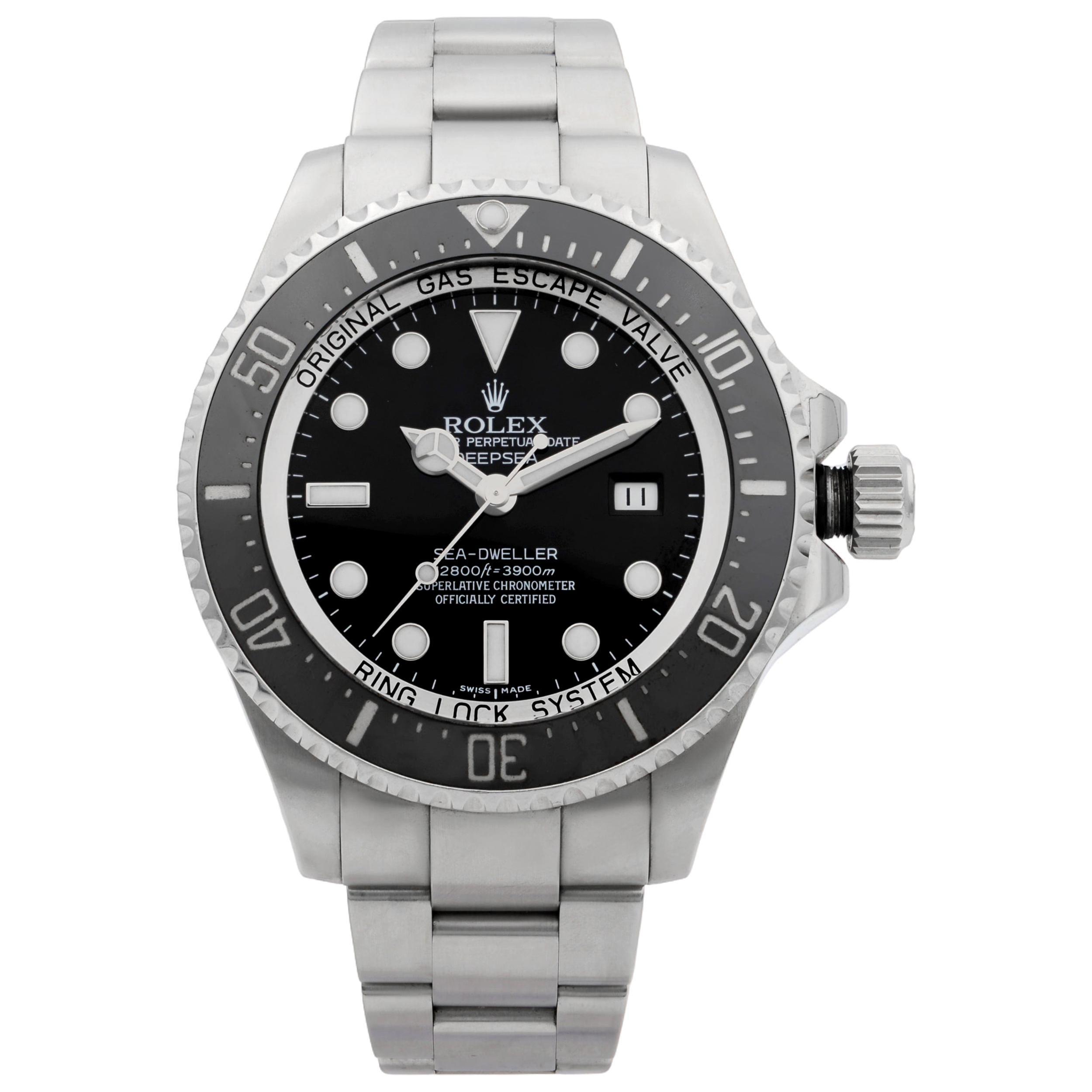 Rolex Deepsea Sea-Dweller Steel Black Dial Automatic Men's Watch 116660