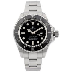 Rolex Deepsea Sea-Dweller Steel Ceramic Black Dial Automatic Men's Watch 116660
