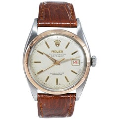 Rolex Early Datejust Steel and Rose Gold with Original Dial from 1950