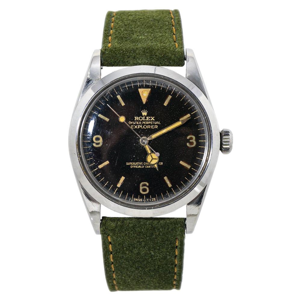 Rolex Explorer 1016 Tropical Gilt Dial Automatic Mens Watch