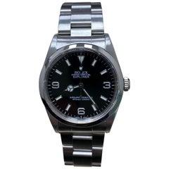 Rolex Explorer 14270 Black Dial Stainless Steel Watch