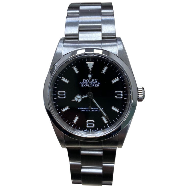 Rolex Explorer 14270 Black Dial Stainless Steel Watch For Sale