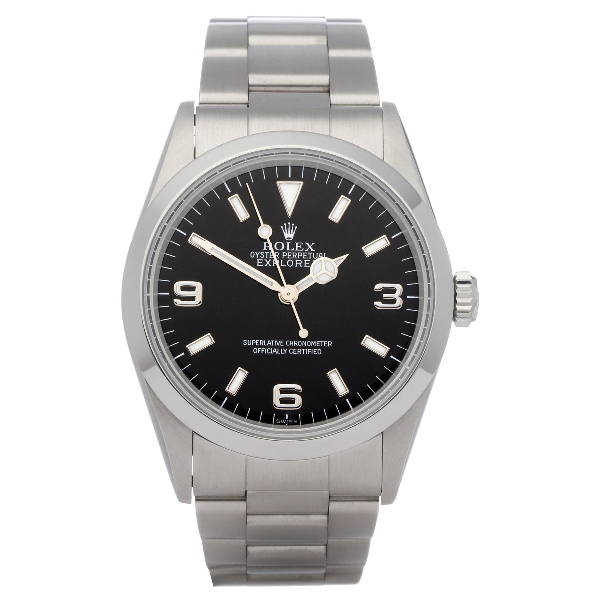 Rolex Explorer 14270 Men's Stainless Steel Watch
