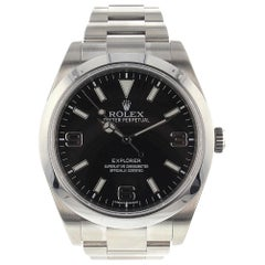 Rolex Explorer 214270, Black Dial, Certified and Warranty