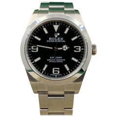 Rolex Explorer 214270 Stainless Steel Black Dial Box Papers 2020