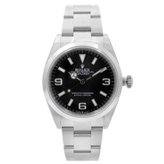 Rolex Explorer Stainless Steel Black Dial Automatic Mens Watch 124270