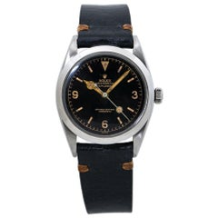 Rolex Explorer 6610 Oyster Perpetual Vintage Tropical Brown Dial Mens Watch