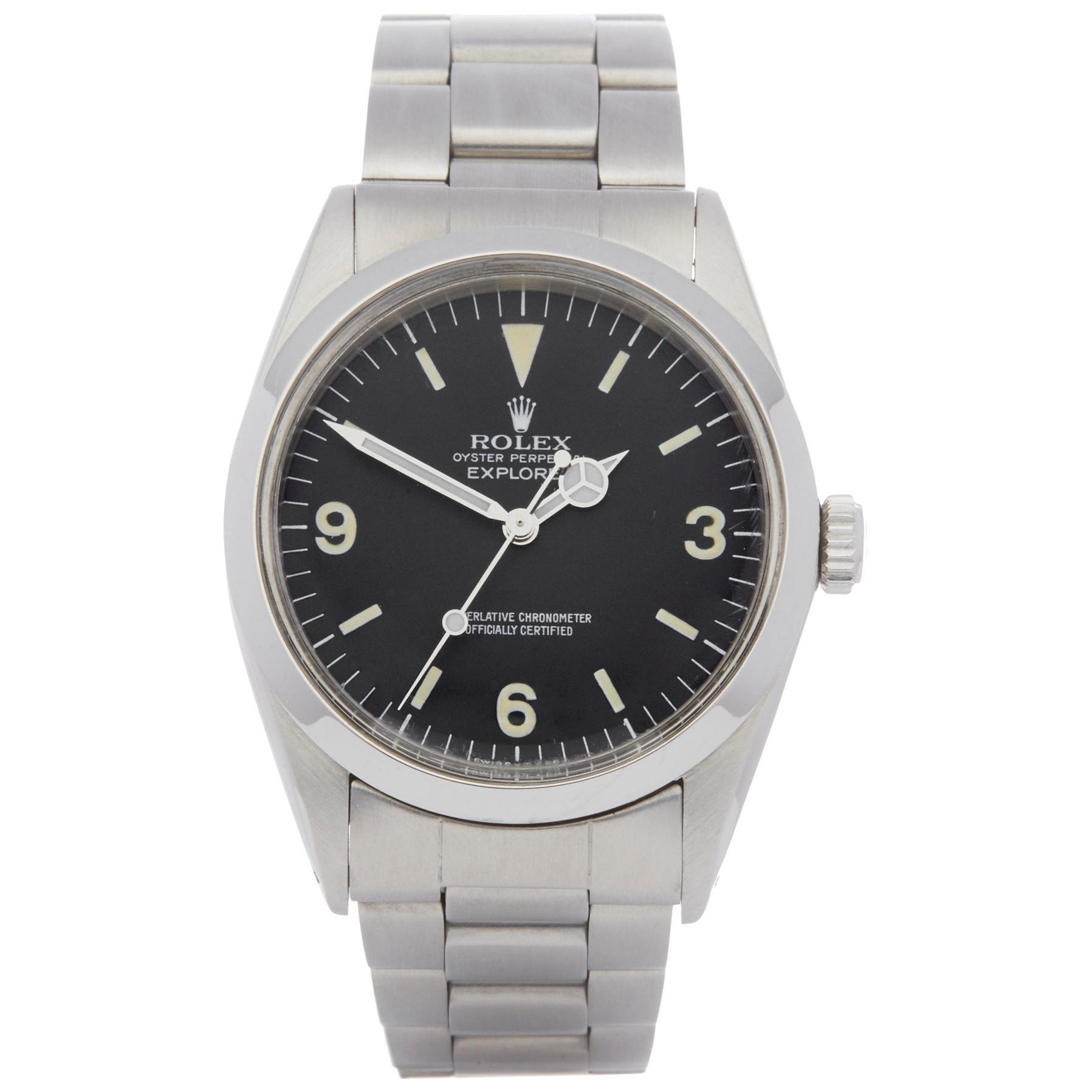 Rolex Explorer I 1016 Men's Stainless Steel Watch