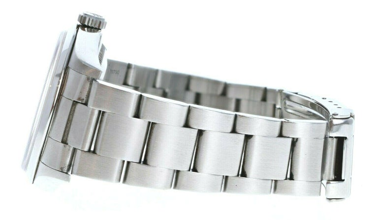 Women's or Men's Rolex Explorer I 14270 Stainless Steel with Papers For Sale