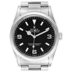 Rolex Explorer I 36 Black Dial Oyster Bracelet Steel Men's Watch 14270