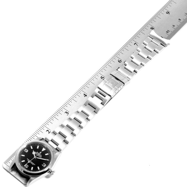 Rolex Explorer I Black Dial Automatic Steel Men's Watch 14270 6