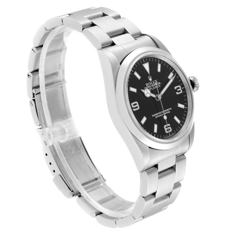 Rolex Explorer I Black Dial Automatic Steel Men's Watch 14270 In Excellent Condition In Atlanta, GA