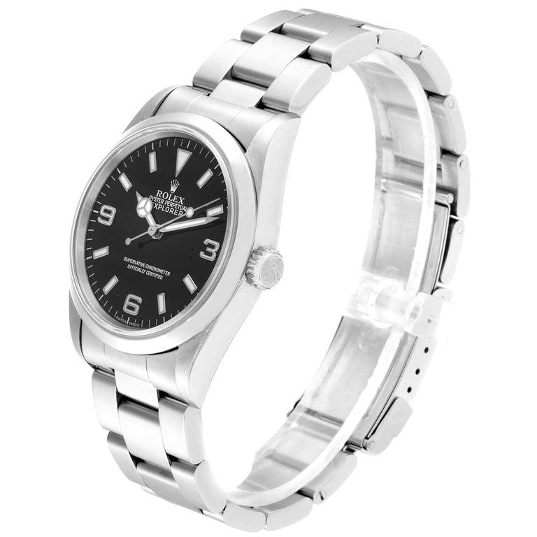 Men's Rolex Explorer I Black Dial Automatic Steel Men's Watch 14270