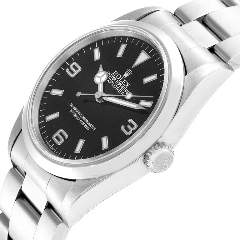 Rolex Explorer I Black Dial Automatic Steel Men's Watch 14270 1