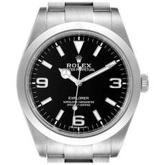 Rolex Explorer I Arabic Numerals Men's Watch 214270 Box Card