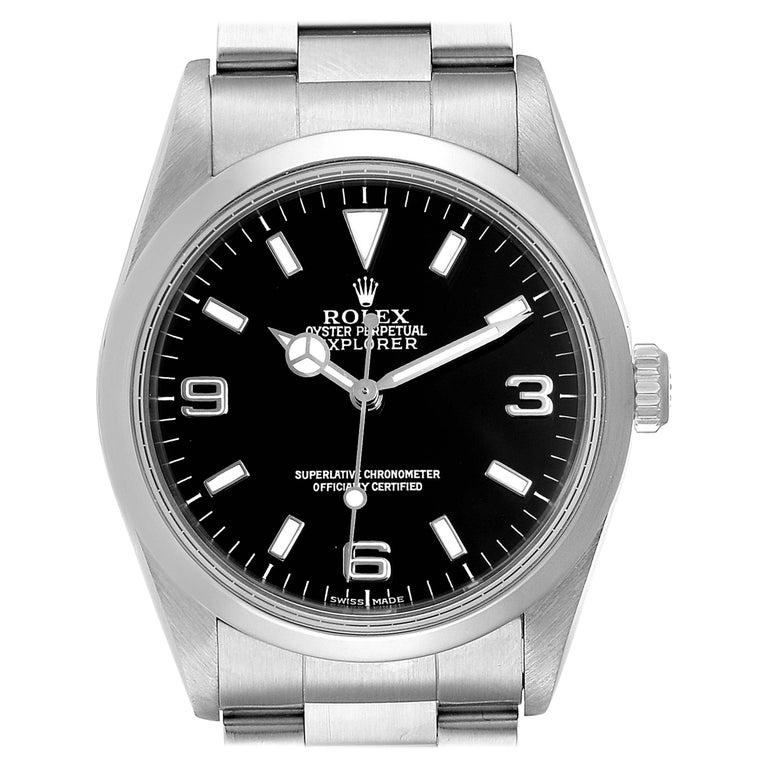 Rolex Explorer I Black Dial Automatic Steel Men's Watch 14270