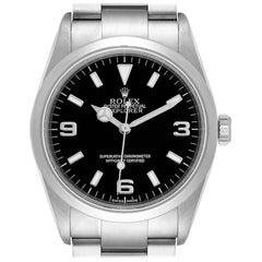 Rolex Explorer I Black Dial Stainless Steel Men's Watch 114270 Box Card