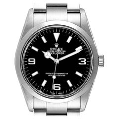 Rolex Explorer I Black Dial Stainless Steel Men's Watch 114270 Box