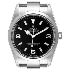 Rolex Explorer I Black Dial Stainless Steel Men's Watch 114270 Box