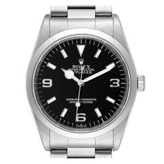 Rolex Explorer I Black Dial Stainless Steel Mens Watch 14270 Box Papers