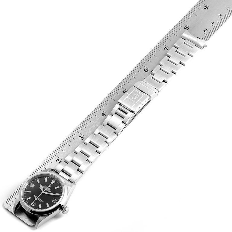 Rolex Explorer I Black Dial Stainless Steel Men's Watch 14270 For Sale 7