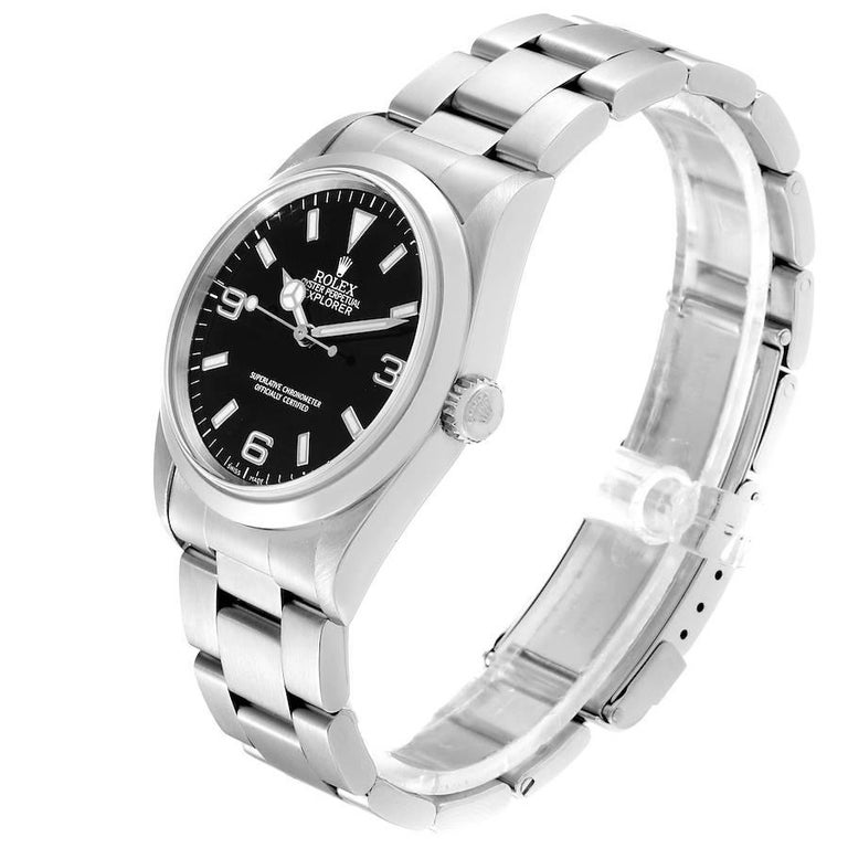 Rolex Explorer I Black Dial Stainless Steel Men's Watch 14270 For Sale 1