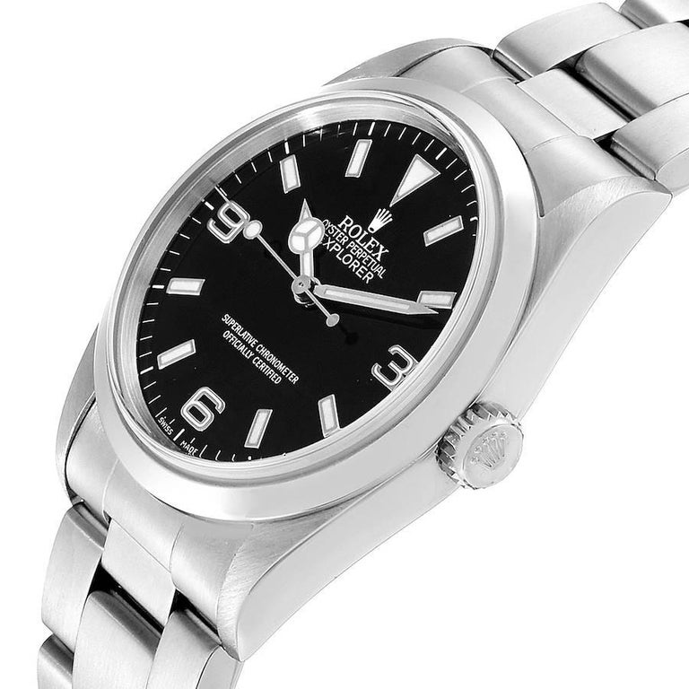 Rolex Explorer I Black Dial Stainless Steel Men's Watch 14270 For Sale 2