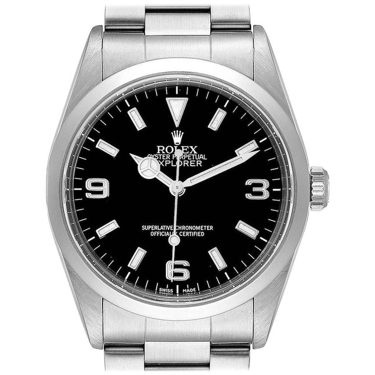 Rolex Explorer I Black Dial Stainless Steel Men's Watch 14270 For Sale