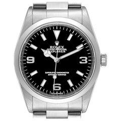 Rolex Explorer I Black Dial Stainless Steel Men's Watch 14270
