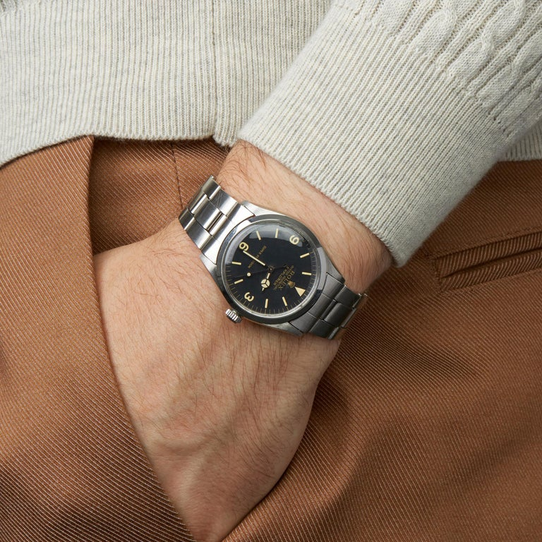 Rolex Explorer I Double Stamped T25 Stainless Steel 5500 For Sale 5