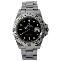 Rolex Explorer II 16550 R Serial Men's Automatic Watch Box and Papers Black Dial