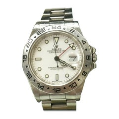 Rolex Explorer II 16550 White Dial Stainless with Box Unpolished Collectible