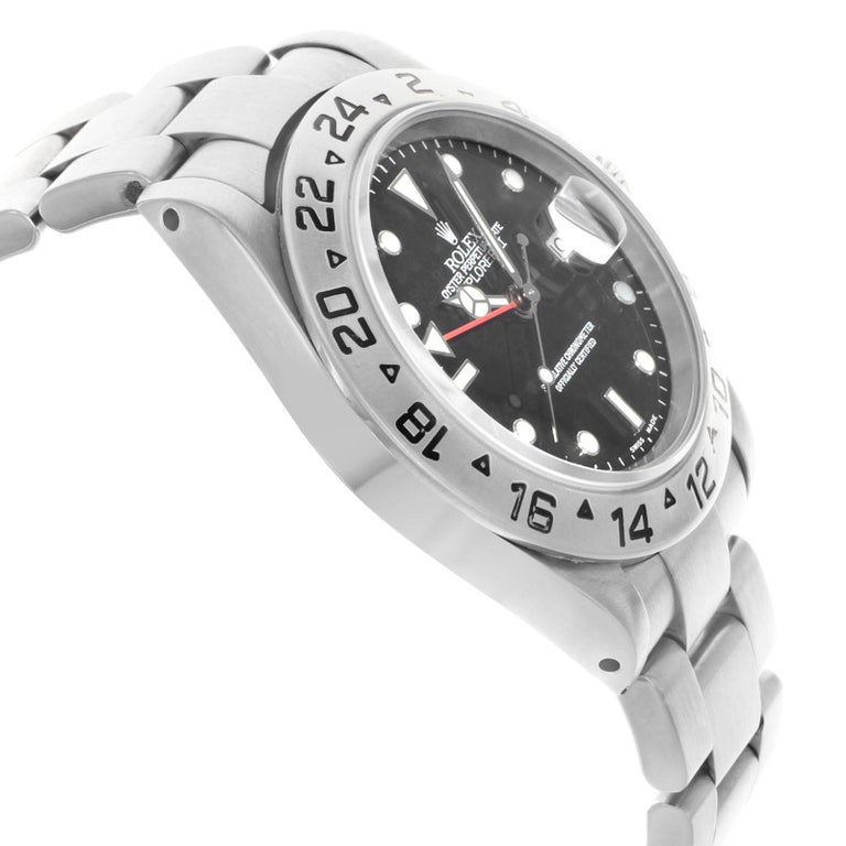 Rolex Explorer II 16570 Black Dial 1999 Stainless Steel Automatic Men's Watch For Sale 1