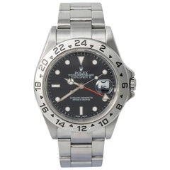 Rolex Explorer II 16570 F-Serial Men's Automatic Watch Black Dial SS