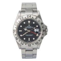Rolex Explorer II 16570 F-Serial Men's Automatic Watch Black Dial SS 40mm