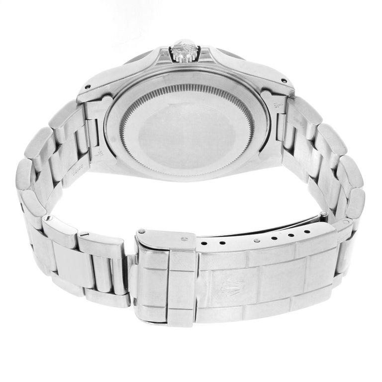 Rolex Explorer II 16570 GMT Black Dial Holes 1996 Steel Automatic Men's Watch For Sale 2
