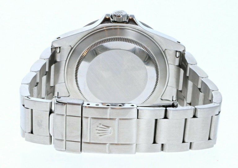Rolex Explorer II 16570 GMT Stainless Steel Black Dial Watch W/ Papers In Good Condition For Sale In Beverly Hills, CA