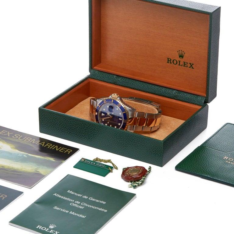 Rolex Submariner 16613 Men's Stainless Steel Watch For Sale 7