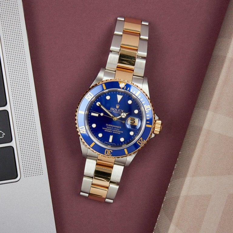 Rolex Submariner 16613 Men's Stainless Steel Watch For Sale 8