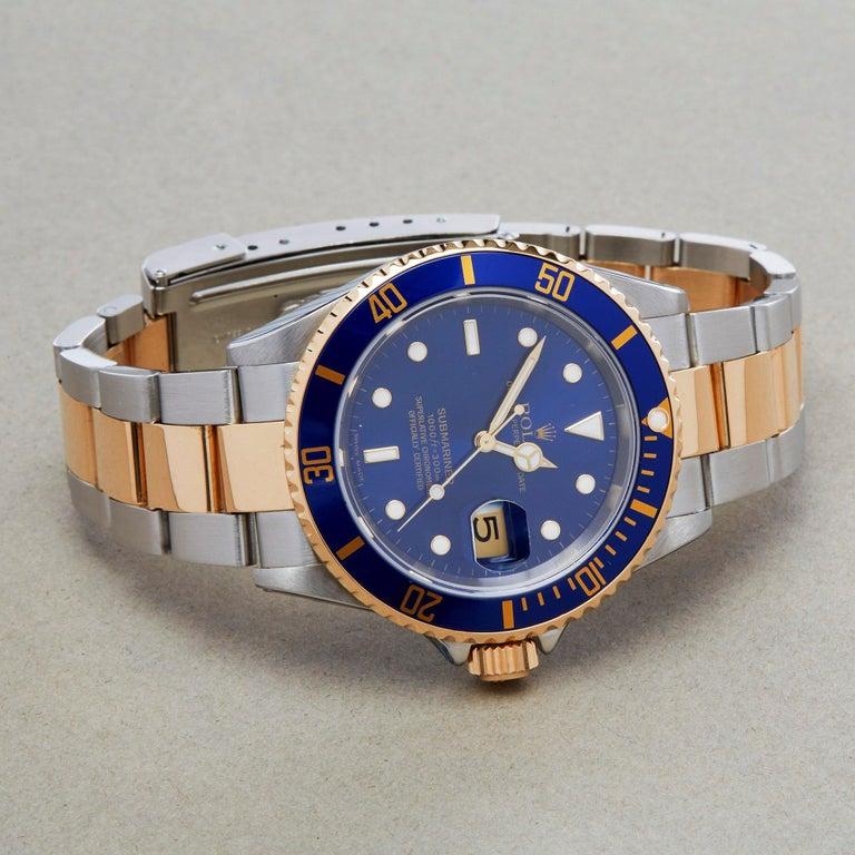 Rolex Submariner 16613 Men's Stainless Steel Watch In Excellent Condition For Sale In Bishops Stortford, Hertfordshire