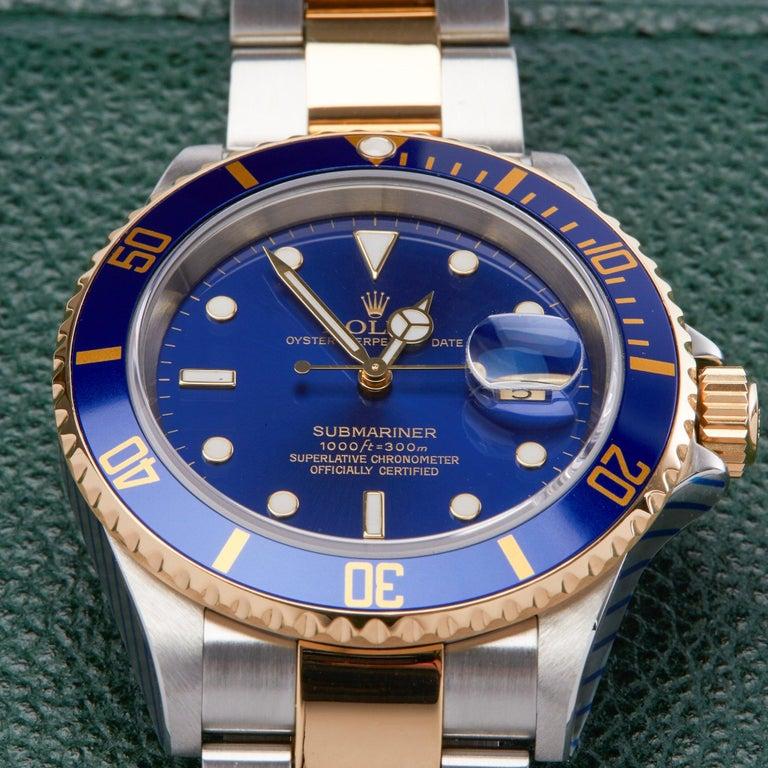 Rolex Submariner 16613 Men's Stainless Steel Watch For Sale 1