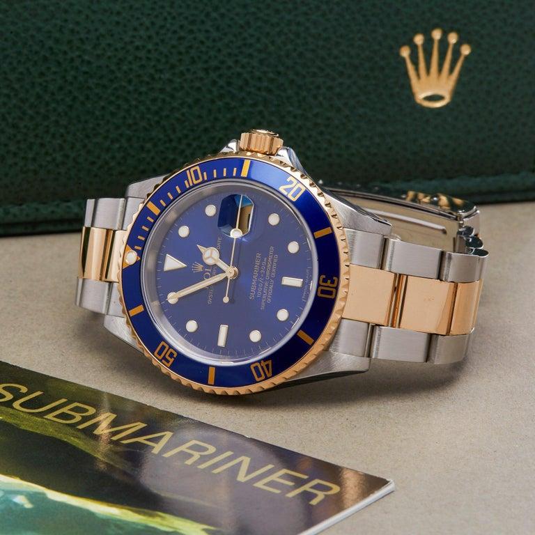 Rolex Submariner 16613 Men's Stainless Steel Watch For Sale 6