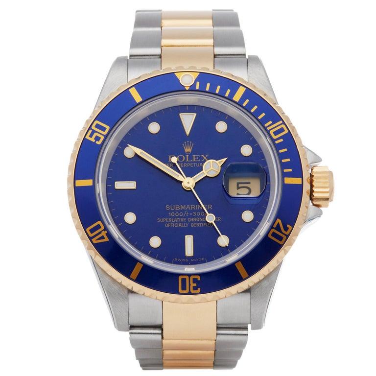 Rolex Submariner 16613 Men's Stainless Steel Watch For Sale