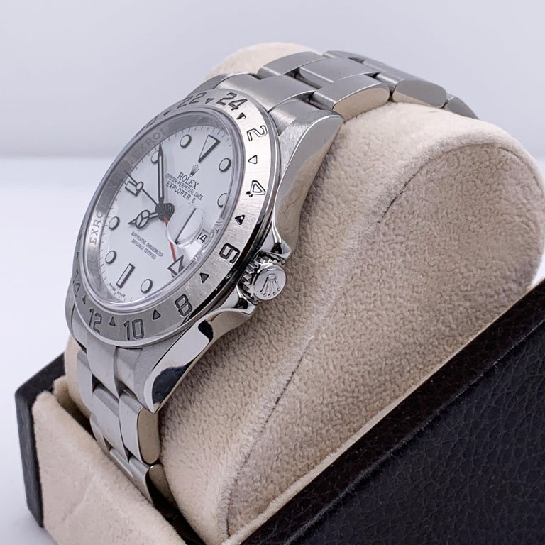 Style Number: 16570      Serial: 16349***   Year: 2010- Now     Model: Explorer II     Case Material: Stainless Steel      Band: Stainless Steel      Bezel: Stainless Steel      Dial: White      Face: Sapphire Crystal      Case Size: 40mm