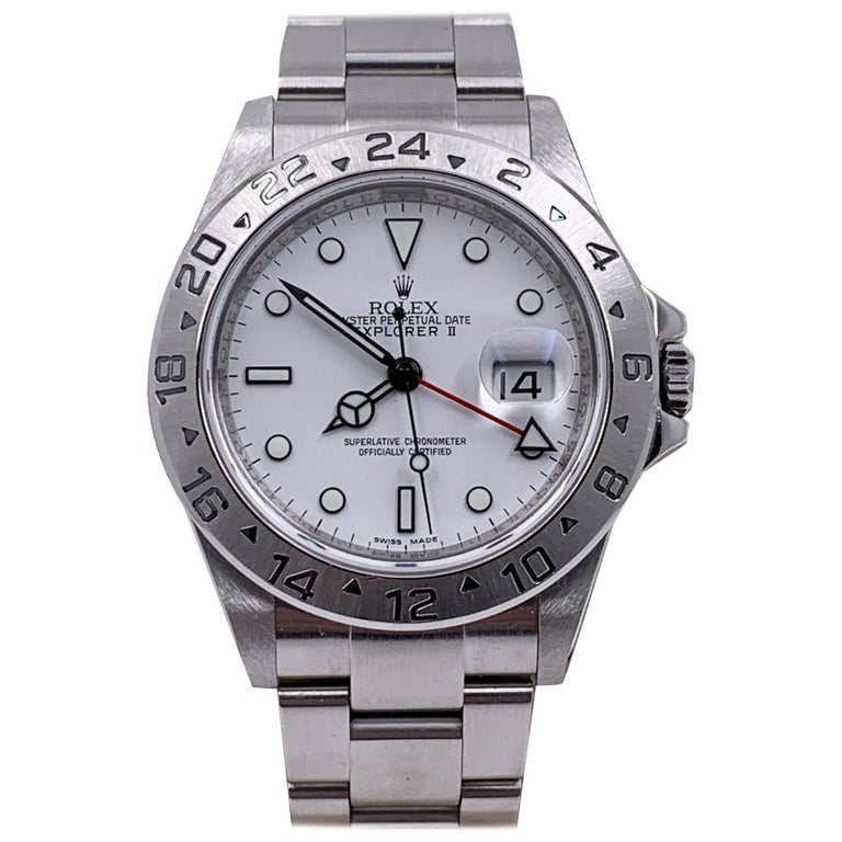 Rolex Explorer II 16570 White Dial Stainless Box Service Paper 2020 Very Rare For Sale