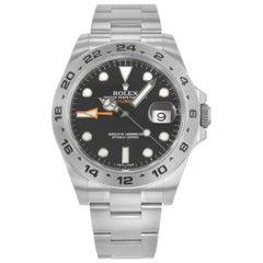 Rolex Explorer II 216570 BKSO Black Dial GMT Steel Automatic Men's Watch
