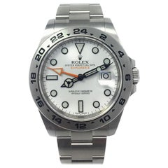 Rolex Explorer II 216570 with Band and White Dial